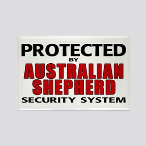 Australian Shepherd Security Rectangle Magnet